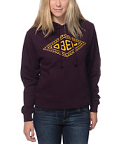 Obey Diamond Leaf Blackberry Pullover Hoodie