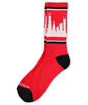 Skyline Classic City Chicago Red & Black Socks