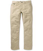 RVCA Stay Twill Stretch Slim Khaki Pants