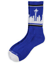 Skyline Socks Seattle Royal Blue Crew Socks