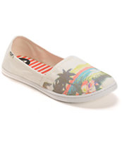 Roxy Pier II Scenic White Slip On Shoe