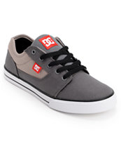 DC Boys Bristol Grey, Red & White Skate Shoe