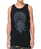 Crooks and Castles Mayan Medusa Black Tank Top