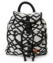 Roxy Drifter 2 Black & White Rucksack Backpack