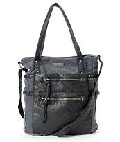Roxy Beach Rock Black Canvas Tote Bag