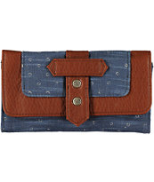 Roxy Oasis Dot Print Blue Canvas Wallet