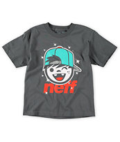Neff Boys Jamie Charcoal Tee Shirt