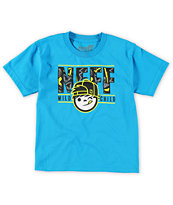 Neff Boys Wild Kenny Blue Tee Shirt
