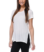Jolt White Tunic Tee Shirt