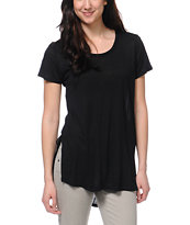 Jolt Black Tunic Tee Shirt