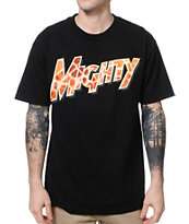 Mighty Healthy Long Neck Black Tee Shirt