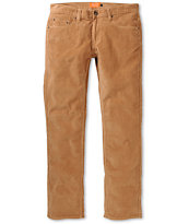 Matix MJ Caramel Brown Slim Corduroy Pants