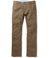 Matix Nexus Brown Slim Chino Pants