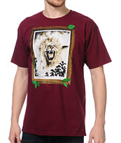 LRG Jungle King Burgundy Tee Shirt