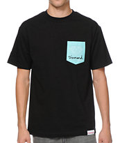 Diamond Supply OG Sign Black & Mint Pocket Tee Shirt