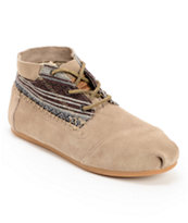 Toms Tribal Mixed Taupe Suede Boots