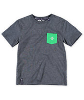 LRG Boys Core Charcoal Grey Pocket Tee Shirt