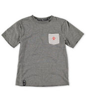 LRG Boys Core Grey Pocket Tee Shirt