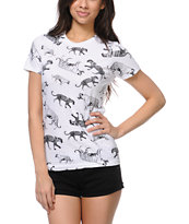 Empyre Girls Cat Parade White Tee Shirt