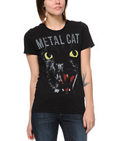 Empyre Girls Metal Cat Black Tee Shirt