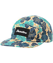 Primitive Maui Khaki & Teal 5 Panel Hat