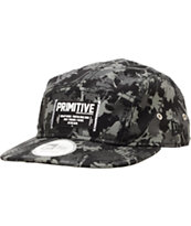 Primitive Palms Black & Grey 5 Panel Hat