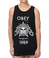 Obey Breaking The Chains Black Tank Top
