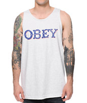 Obey Old Fashion Ash Grey Tank Top