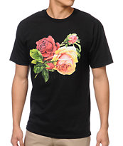 Obey Bed Of Roses Black Tee Shirt