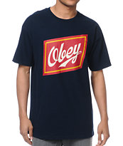 Obey Malt Liquor Navy Tee Shirt