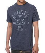 Obey Propaganda Flower Sack Charcoal Tee Shirt
