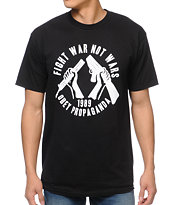 Obey Fight War Not Wars Black Tee Shirt