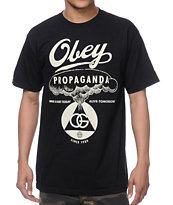 Obey Nuclear Attack Black Tee Shirt