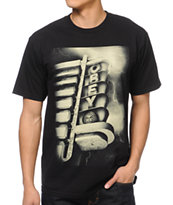 Obey Lightning Marquee Black Tee Shirt