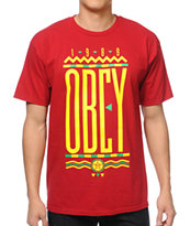 Obey Colours Red Tee Shirt