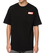 Obey Bar Pocket Black Tee Shirt