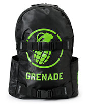 Grenade Black & Green Logo Backpack