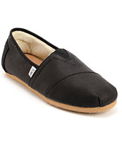Toms Shoes Classics Aviator Black Twill Guys Shoe