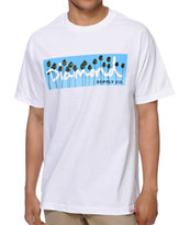 Diamond Supply OG  Palms White Tee Shirt