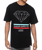 Diamond Supply 15 Years Brilliance Black Tee Shirt