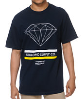 Diamond Supply 15 Years Brilliance Navy Blue Tee Shirt
