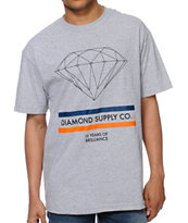 Diamond Supply 15 Years Brilliance Heather Grey Tee Shirt