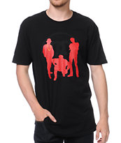 Stussy Link Posse Black & Red Tee Shirt
