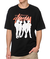 Stussy Stock Posse Black Tee Shirt