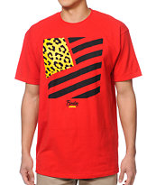 Popular Demand Squared Flag Red Tee Shirt