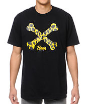 Popular Demand Cheetah Bones Black Tee Shirt