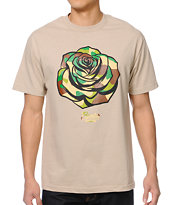 Popular Demand Camo Rose Tan Tee Shirt