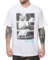 Acrylick Delicious Cuts White Tee Shirt