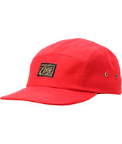 Obey Expedition Red 5 Panel Hat