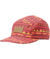 Obey Marrakesh Red 5 Panel Hat
